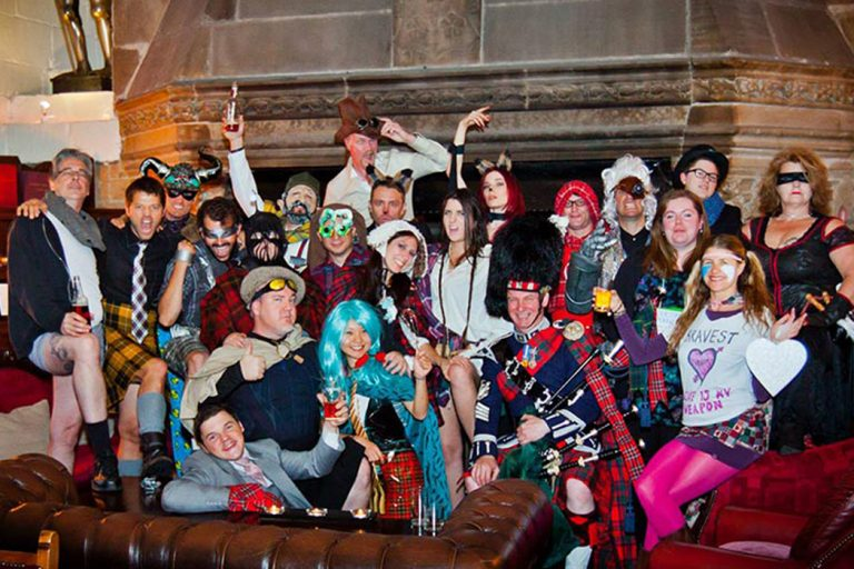 GISH Winners in a haunted Scottish castle.